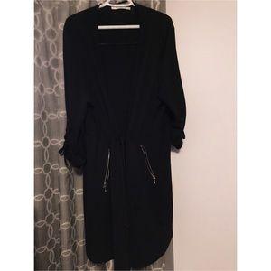 2x Black Long jacket/ blazer w/ drawstring waist